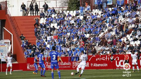 aficion Real Oviedo Albacete Carlos Belmonte.La afición oviedista, en el Carlos Belmonte