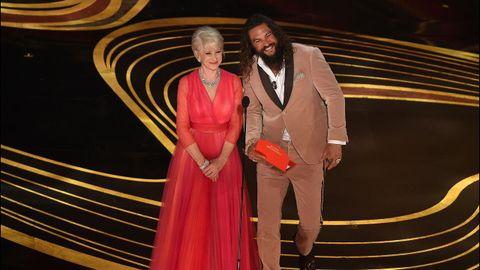 Helen Mirren y Jason Mamoa