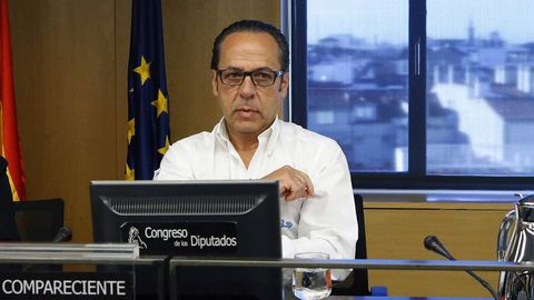   EFE.Álvaro Pérez, en el 2018 en el Cogreso, en la comisión de investigación sobre la finaciación ilegal del PP