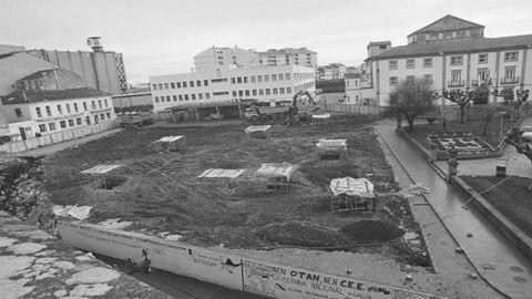 La construcción del párking de la plaza de la Constitución se inició antes que la de los otros dos