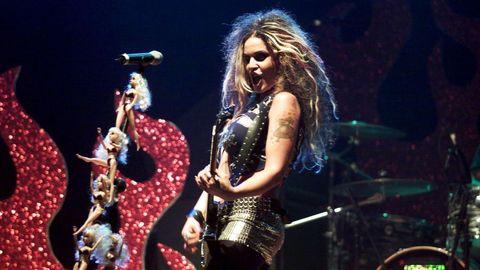 La artista en un concierto