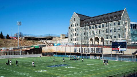 Pista deportiva en el campus de la Universidad Georgetown de Washington D.C.