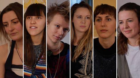 De izquierda a derecha: Laura, Alanna, Nikki, Scarlet, Blyte y Alice