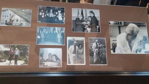Fotografías de Severo Ochoa incluidas en la exposición