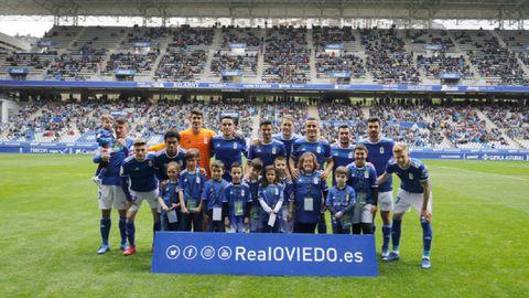 Alineacion Real Oviedo Nastic Carlos Tartiere.La alineación del Real Oviedo ante el Nàstic