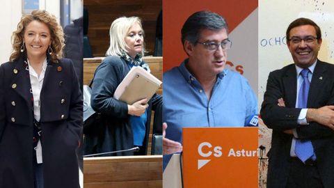 Teresa Mallada, Mercedes Fernández, Ignacio Prendes y Juan Vázquez
