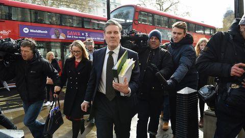 Los laboristas Keir Starmer y Rebecca Long-Bailey, a su llegada a la reunión del Consejo de Ministros
