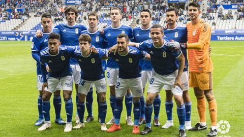 Alineación del Real Oviedo ante la UD Las Palmas