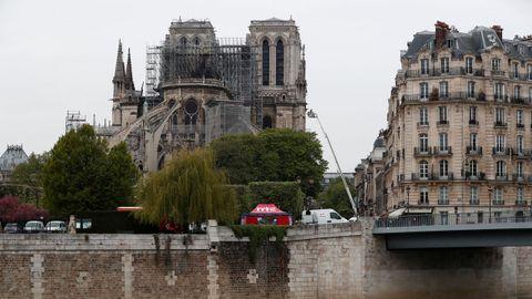 La Catedral de Notre Dame, esta mañana