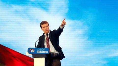 Pablo Casado, en el acto político del PP en Alicante