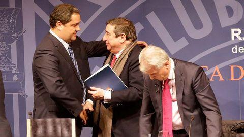 Tino Fernández y Augusto César Lendoiro el día que el actual presidente del Deportivo se convirtió en el mázximo dirigente del club