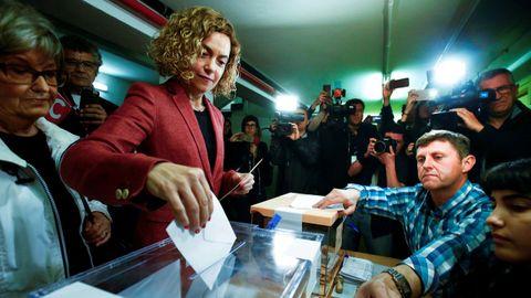 La ministra de Administración Territorial y candidata del PSC a las elecciones generales por Barcelona, Meritxell Batet, el 28A