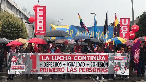 Manifestación del 1 de Mayo de 2019 en Mieres