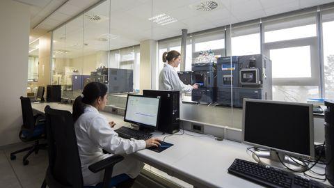 Laboratorio de Anfaco-Cecopesca donde se analiza la presencia de toxinas