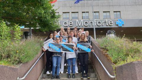 Enfermeras con contratos eventuales se sumaron en Monforte a las protestas