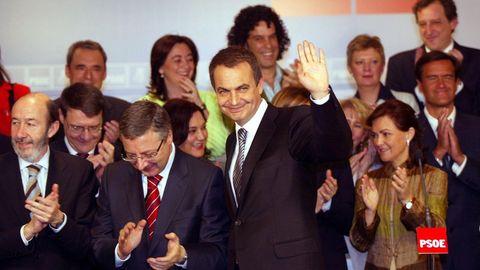 En el 2006 durante la celebración del segundo aniversario de la victoria electoral del PSOE