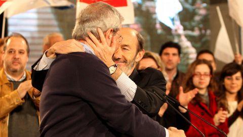 Imagen del 2008 en un mitin en Vigo con Emilio Pérez Touriño