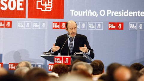 Mitin de apoyo a Pérez Touriño en Ourense durante la campaña de las autonómicas del 2009