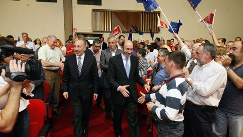Mitin en el 2009 en A Coruña para las Europeas junto a Javier Losada, Pachi Vázquez y Antolín Sánchez Presedo