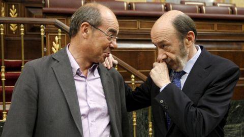 Saludando a Francisco Jorquera en el Congreso ya como exministro del Interior