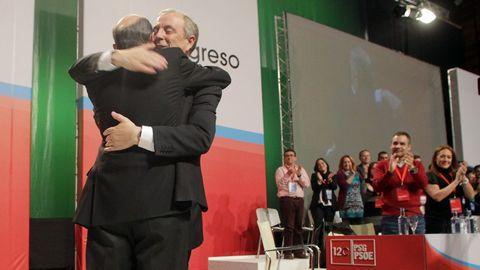 En el 2012 con Pachi Vázquez, tras su reelección como secretario xeral del PSdeG