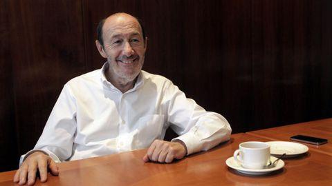 Imagen de una entrevista en La Voz de Galicia en el 2012, previa a los comicios autonómicos