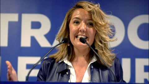 La candidata del PP a la Presidencia del Principado, María Teresa Mallada, durante el acto de inicio de campaña electoral