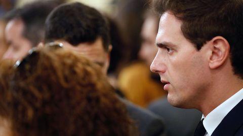 Albert Rivera, de Ciudadanos, también fue al Congreso