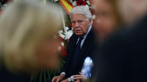 El expresidente Felipe González. Rubalcaba fue portavoz de su Gobierno