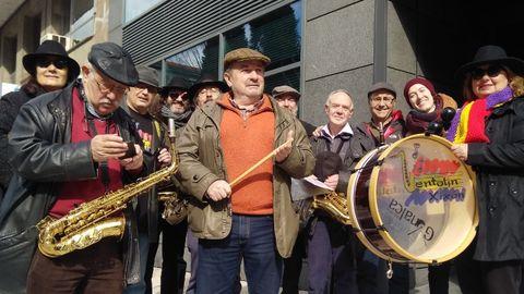 En 2018, en una manifestación de pensionistas y jubilados en Oviedo