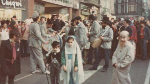 La primera actuación en público de la charanga Ventolín, en los carnavales de 1981 o 1982