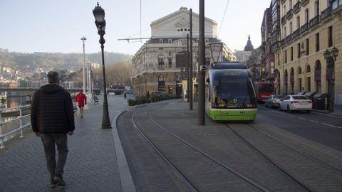 Bilbao.Junto al metro, el saneamiento de la ría fue la mayor inversión llevada a cabo en la capital de la provincia de Vizcaya