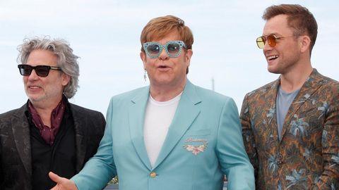 Dexter Fletcher, Elton John y Taron Egerton