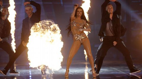 Eleni Foureira, invitada en la gala de Eurovisión