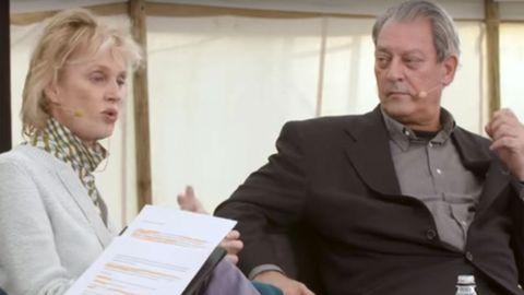 Siri Hustvedt y Paul Auster