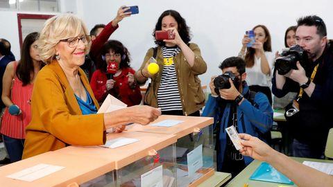 La alcaldesa de Madrid y aspirante a la reeleción, Manuela Carmena