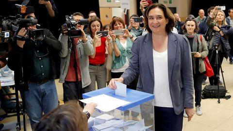 La alcaldesa y candidata de Barcelona en Comú, Ada Colau