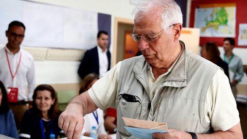 El cabeza de lista del PSOE al Parlamento Europeo, Josep Borrell