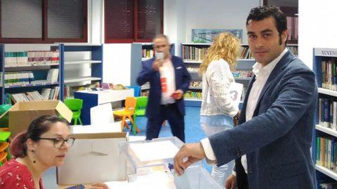 ELECCIONES 26M EN MARÍN: VOTACIÓN DEL CANDIDATO A LA ALCALDÍA POR CIUDADANOS, IVÁN NORES