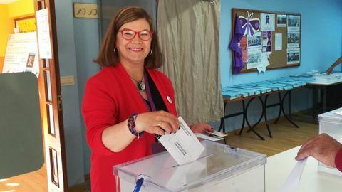 ELECCIONES 26M EN MARÍN: VOTACIÓN DE LA CANDIDATA DE PODEMOS A LA ALCALDÍA, TERESA LANDÍN