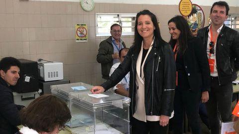 ELECCIONES 26M EN SANXENXO: VOTACIÓN DE LA CANDIDATA A LA ALCALDÍA POR CIUDADANOS, VANESSA RODRÍGUEZ BÚA