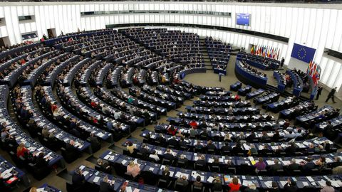 Pleno de la Eurocamara, en su sede de Estrasburgo