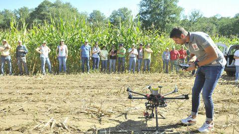 Imagen de unas jornadas sobre el control de cultivos de maíz organizadas por Delagro en el 2018