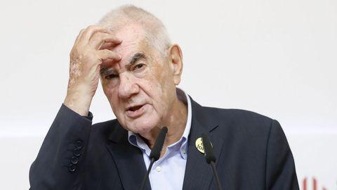 Ernest Maragall, de ERC, durante la jornada electoral del 26M