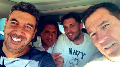 Arturo Elías, Joaquín del Olmo, Sergio Egea y Michu