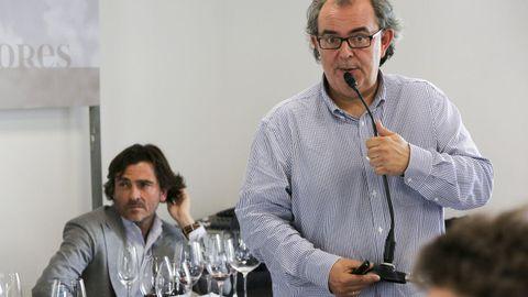 Fevino, primera cata: 8 vinos de 100 Puntos Parker, con Luis Gutiérrez Al fondo, Telmo Rodríguez