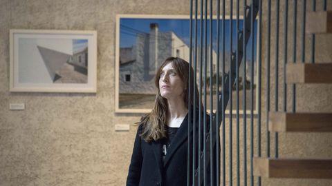 Ana Amado, en el Palacio del Condestable en Pamplona, donde ya se expusieron parte de las fotografías de «Colonos», un proyecto conjunto en el que ella y Patiño llevan trabajando desde el año 2016