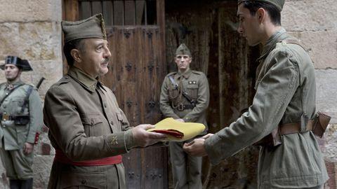 franco.El gallego Santi Prego interepreta a Francisco Franco en la cinta «Mientras dure la guerra», de Amenábar