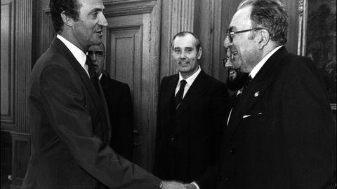 1996: El viejo profesor José Filgueira Valverde, nombrado hijo predilecto  de Pontevedra