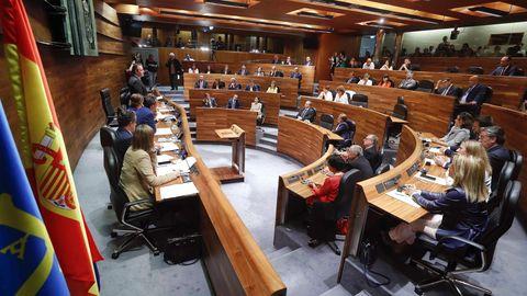 El pleno constituyente de la Junta General